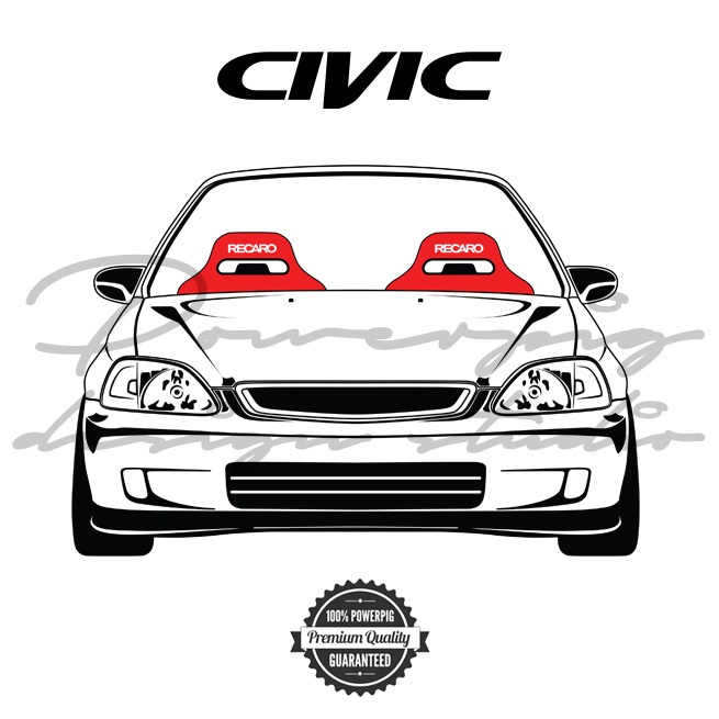 Where Are Hondas Made >> EK9 Civic vector design - Powerpig Design Studio - Pixels, Layers & Fonts