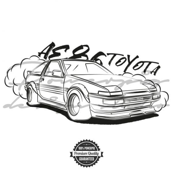 AE86 Toyota Trueno Vector Design