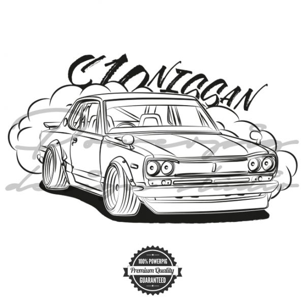 C10 Nissan Skyline vector design